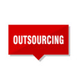outsourcing red tag vector image vector image