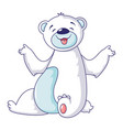 polar bear smile icon cartoon style vector image