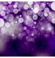 Purple bokeh background vector image vector image