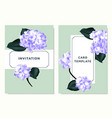purple hydrangea and philodendron silk leaves vector image vector image