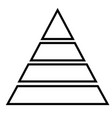 pyramid icon vector image