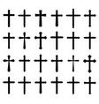 religion cross icon set vector image vector image
