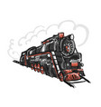 retro train sketch for your design vector image