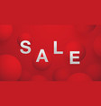 sale banner on red ball abstract background vector image