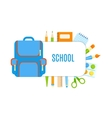 School bubbles with design vector image vector image