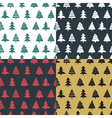 Set fir tree seamless pattern colorful vector image vector image