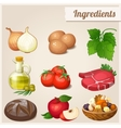 Set of food icons Ingredients vector image
