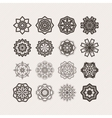 Set of ornate mandala symbols Gothic lace vector image