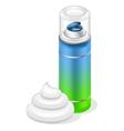 shaving cream vector image vector image