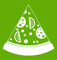 slice of pizza icon green vector image vector image