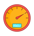Speedometer icon cartoon style vector image vector image
