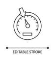 speedometer linear icon vector image