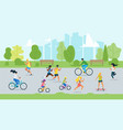 sport activity in park flat vector image