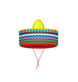 stack of sombrero hats vector image vector image