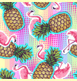 summer seamless bright pattern with flamingo vector image vector image