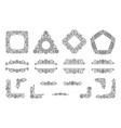 text frame monogram devider corner art set vector image