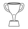 trophy icon cartoon black and white vector image