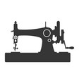 vintage sewing machine icon on white background vector image vector image