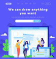 web site design template creative team vector image vector image