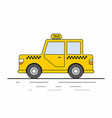 yellow taxi cars isolated on white background vector image