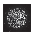 Hand-sketched typographic elements on chalkboard vector image
