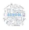 School Hand Drawn Set vector image