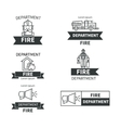 Set of labels fire safety vector image