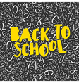 Back to school poster design with numbers pattern vector image