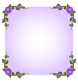 A lavender empty template with plant borders vector image vector image