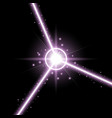 abstract laser beams purple color vector image