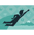 Achieving Goals Like Superhero vector image vector image