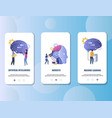 artificial intelligence mobile app onboarding vector image vector image