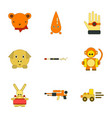 assembly flat icons kids toys vector image vector image
