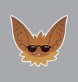 bat emotional head cool emoji smiley icon vector image vector image
