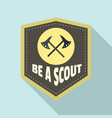 be a scout axe logo flat style vector image vector image