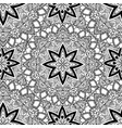 black and white seamless mandala pattern vector image
