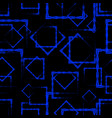 blue rhombuses and squares in the intersection on vector image vector image