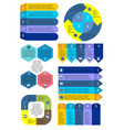business charts infographic set vector image vector image