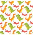 cartoon dinosaurs monster vector image vector image