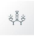chandelier icon line symbol premium quality vector image