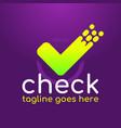check mark designlogo template vector image