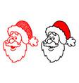 christmas of santa head vector image vector image