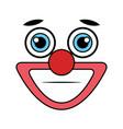 clown emoticon face icon vector image