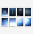 collection blue abstract gradient vector image vector image