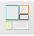color picture frame set vector image vector image