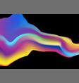 colorful liquid holographic wave abstract vector image vector image