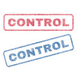 control textile stamps vector image vector image
