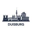 duisburg skyline emblem vector image vector image