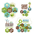 ecology protection green energy and recycle icon vector image vector image