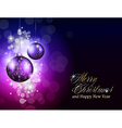 Elegant Merry Christmas background vector image vector image